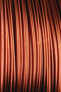 Close up of copper wire